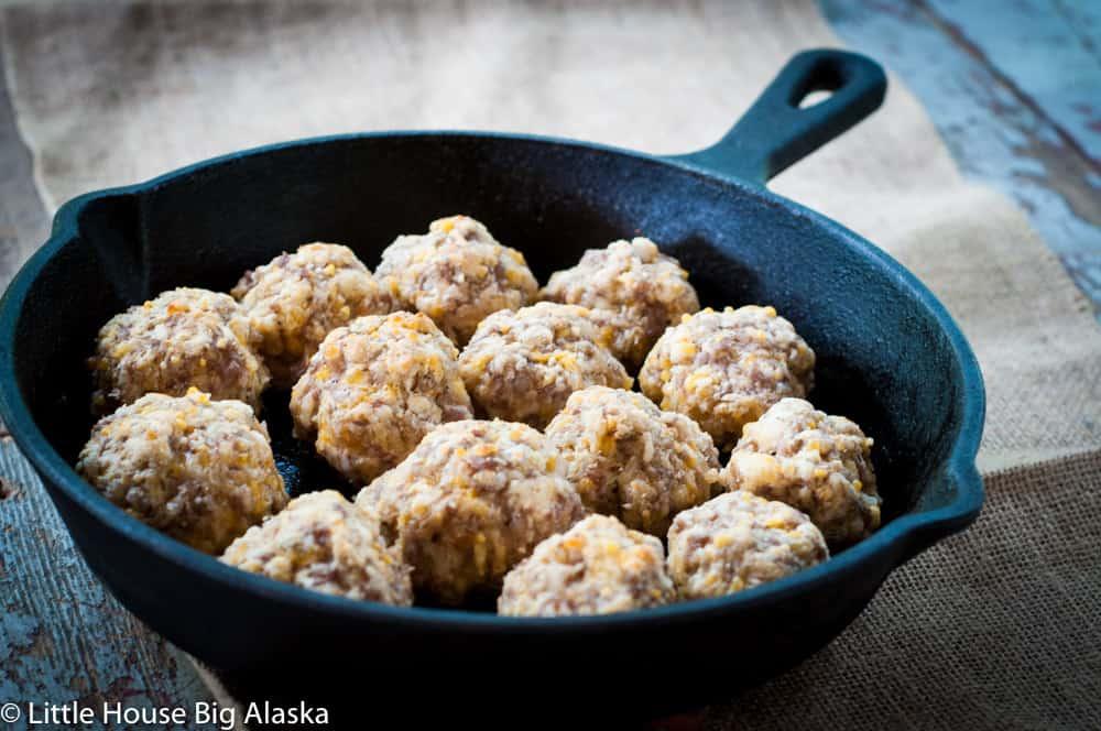 baked sausage balls