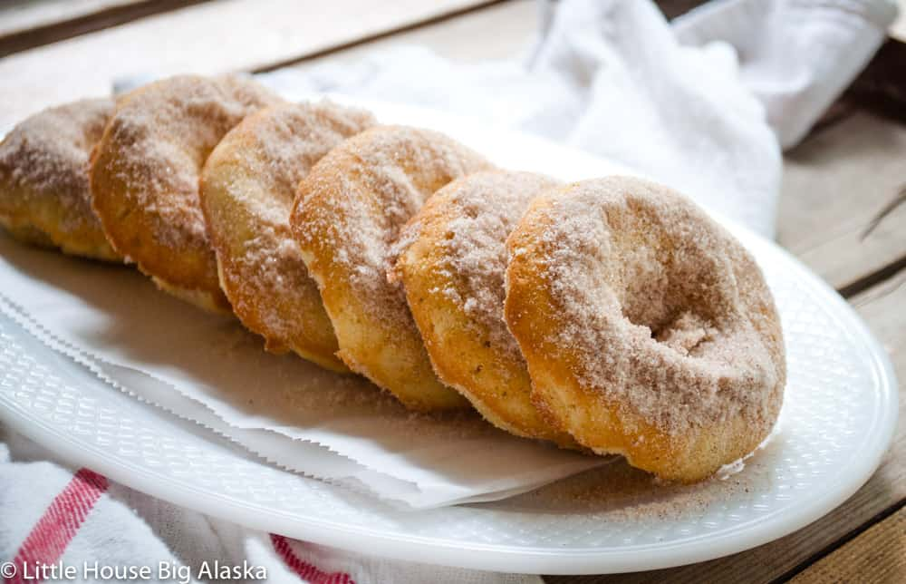 fresh baked apple cinnamon doughnuts