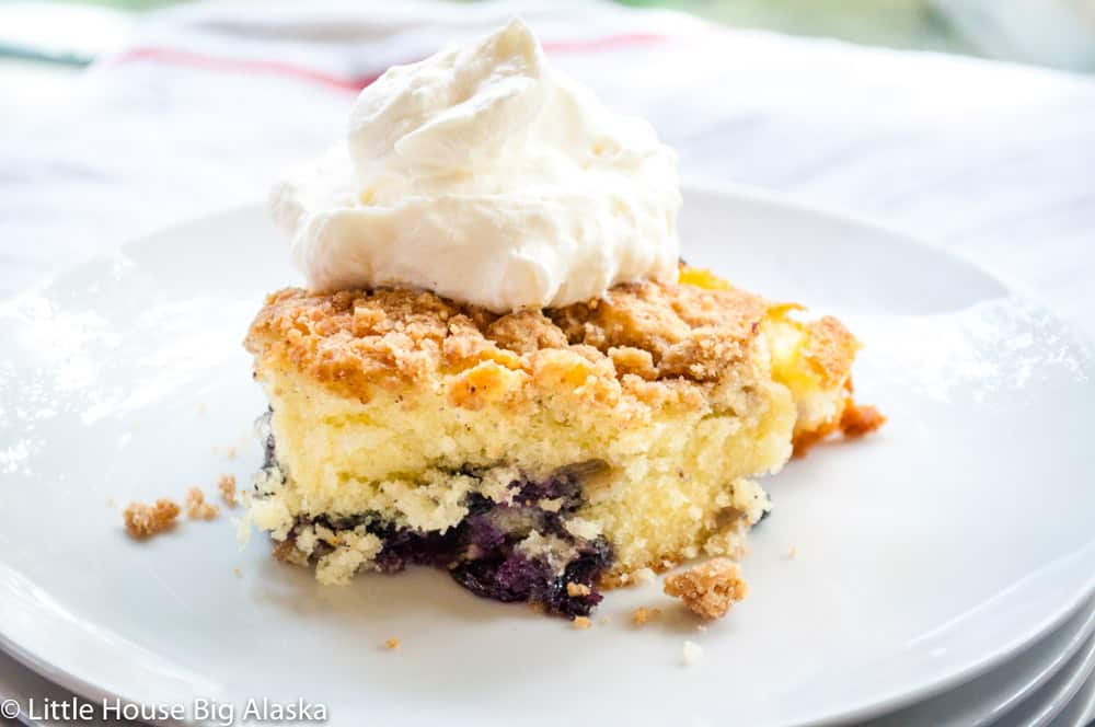 Blueberry Coffee Cake With Streusel Little House Big Alaska
