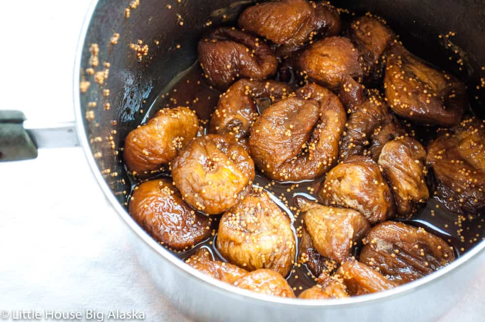 simmered dried figs