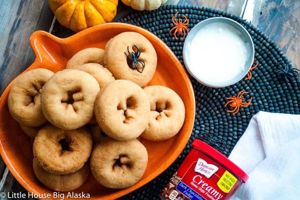 everything you need to make halloween doughnuts