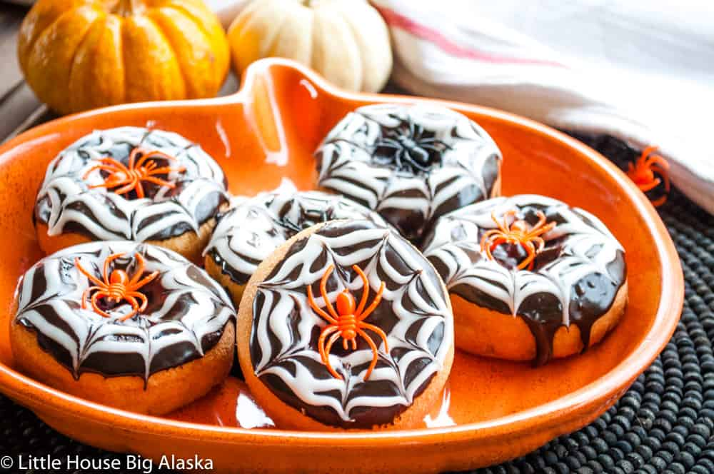 spider ring put to good use on party food