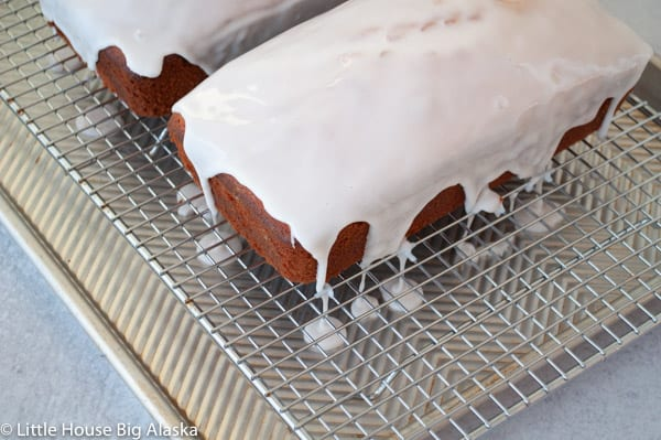 Fresh Grapefruit Pound Cake with Icing Drizzling down the sides