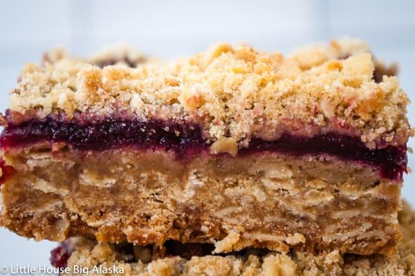 Cherry Bars a GBBO Traybake made with bing cherries