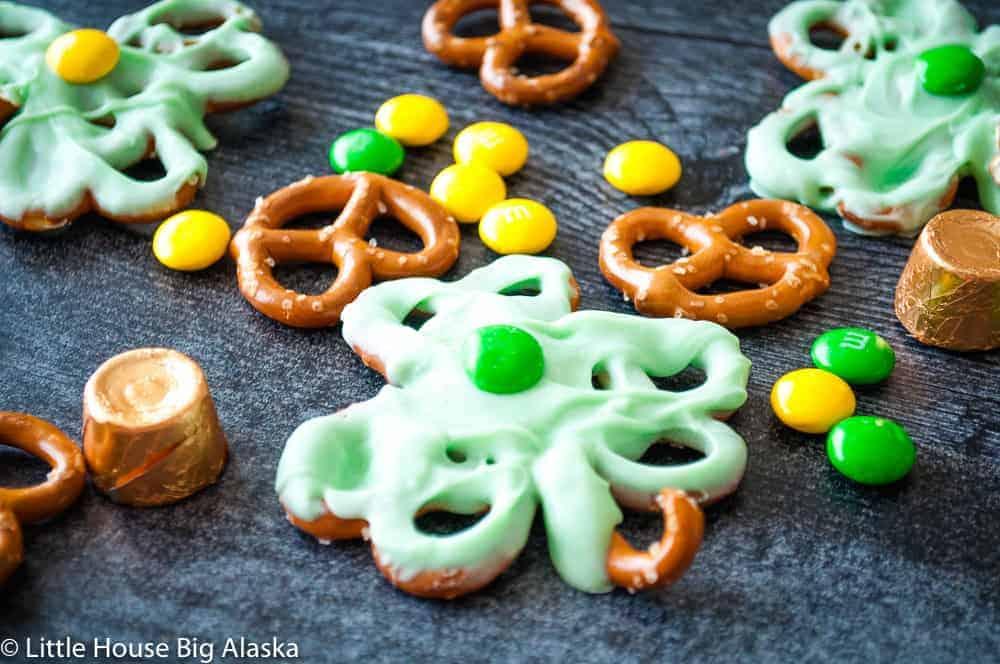 Rolo Pretzel St. Patrick's Day Treats