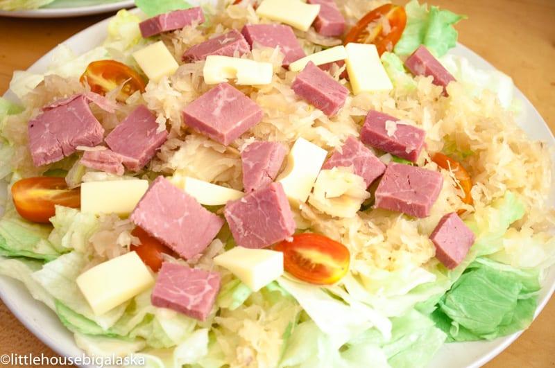 low carb reuben salad