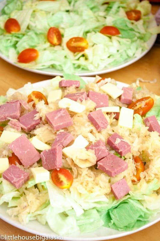 low carb reuben sandwich salad