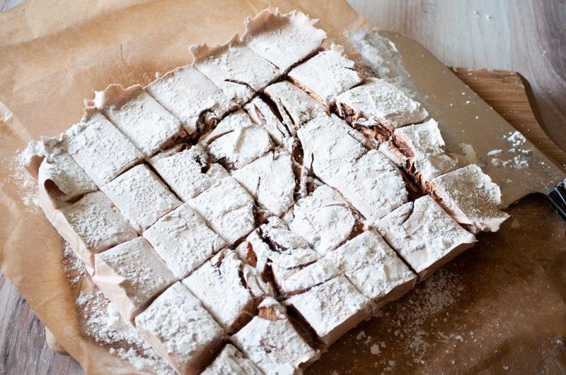 nutella swirl marshmallows