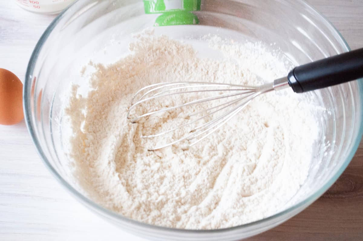 whisk the dry ingredients for you beer batter
