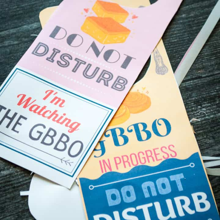 GBBO Do Not Disturb Sign