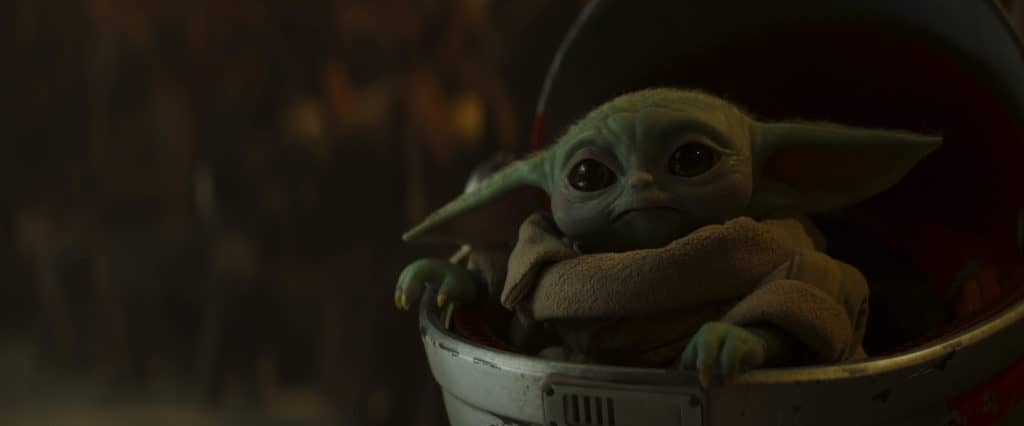 Baby Yoda from the Mandalorian Season 2.