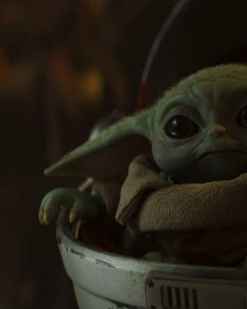 Baby Yoda from the Mandalorian Season 2.