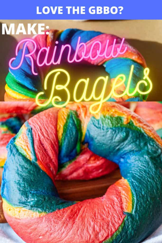 Pin for Rainbow Bagels.
