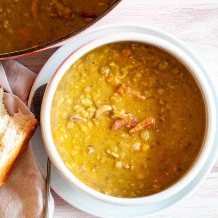 Old Fashioned Split Pea Soup with Bacon