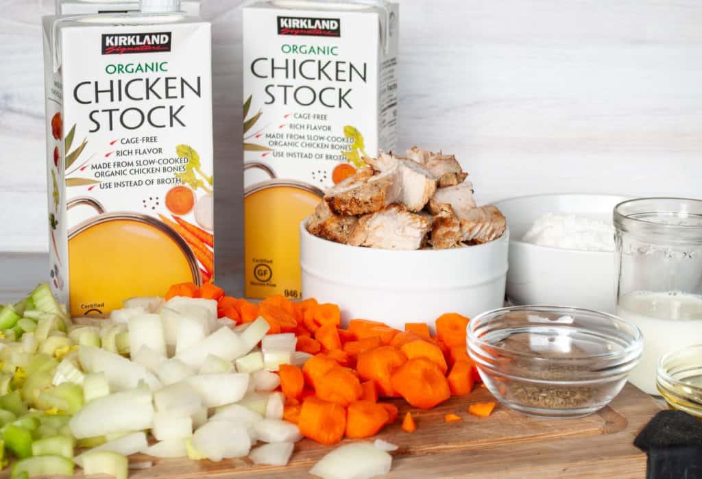Ingredients for Turkey Dumpling Soup.