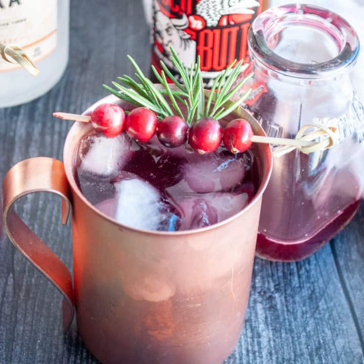Finished Cranberry Mule.
