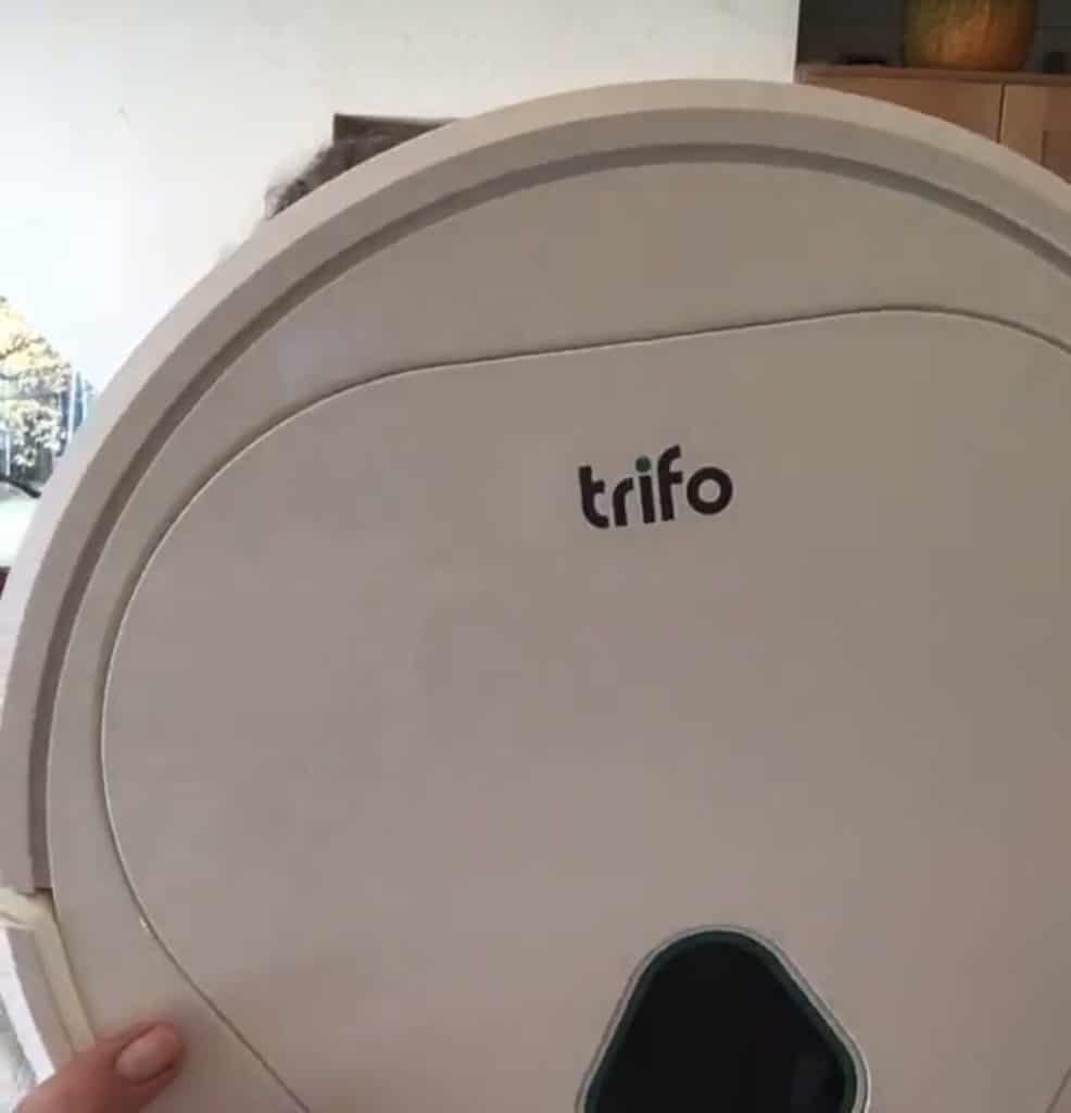Large Trifo Max Robo Vac is made to clean up up all the pet hair!