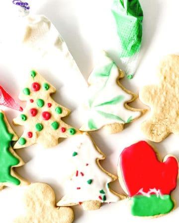 No Spread Sugar Cookies with the BEST Sugar Cookie Glaze Recipe.