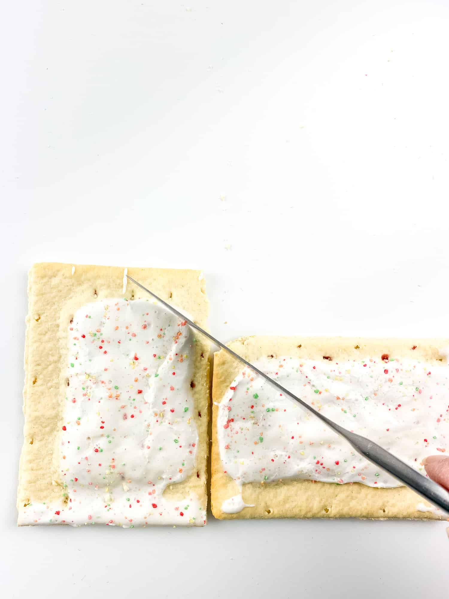L-shape pop-tarts cutting guide for the roof.