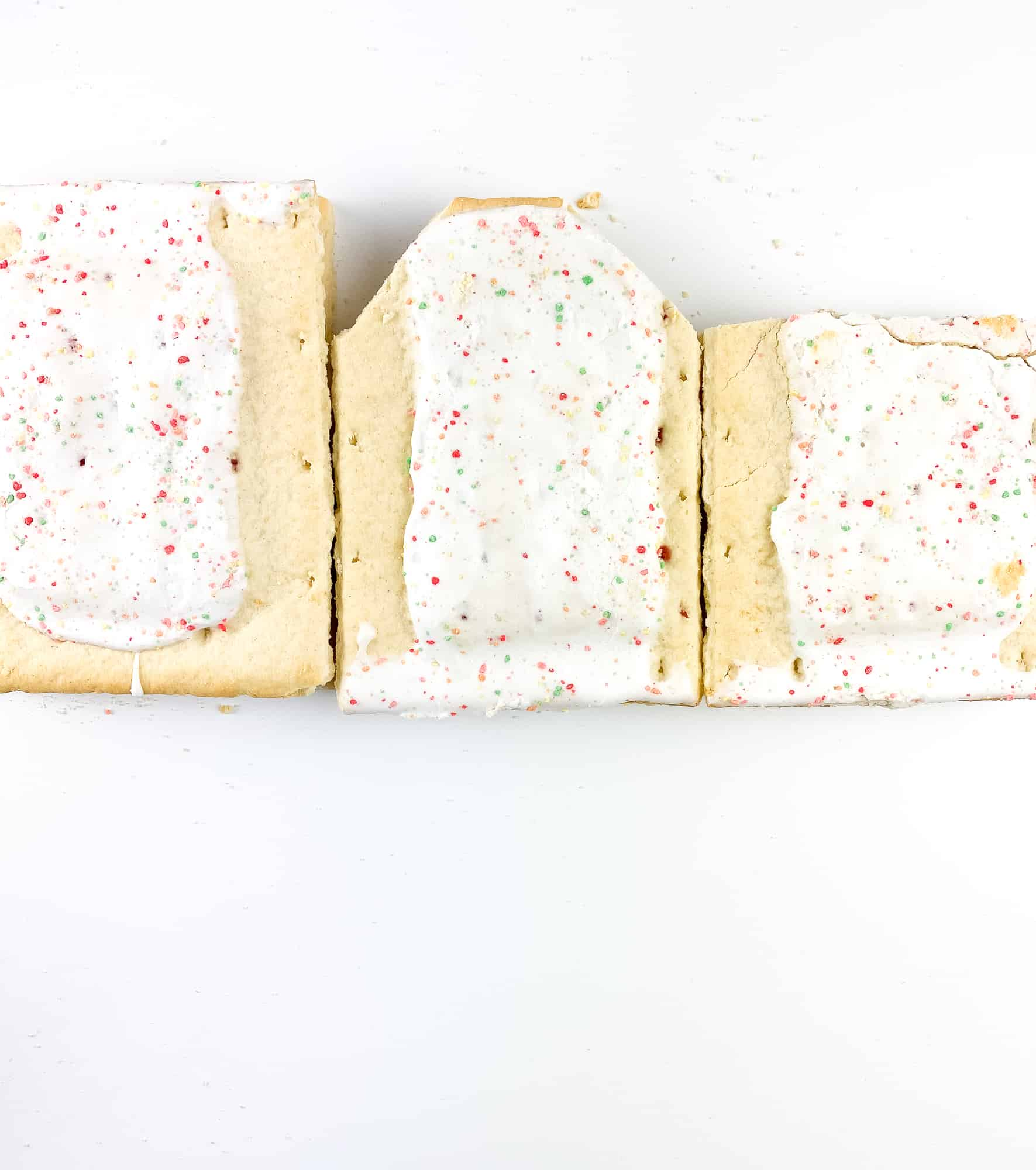 Cut Pop-tarts for the Holiday House.