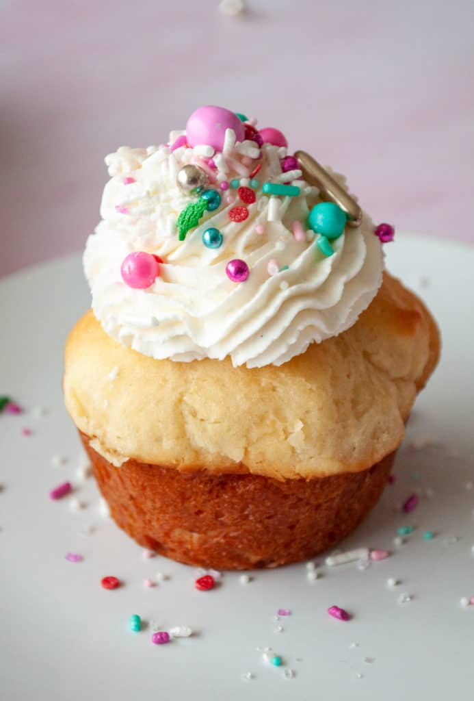 Yes you CAN put sprinkles on a Rum Baba.