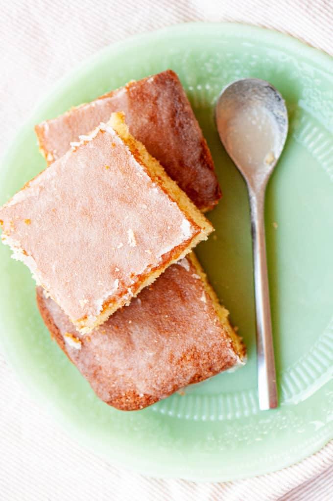 3 slices of Lemon Cake.
