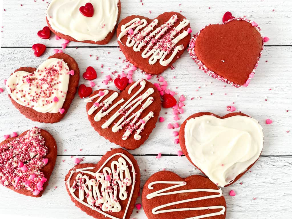Red Velvet Cut-Out Cookies.