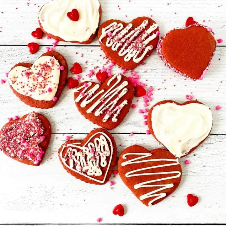 Red Velvet Sugar Cookies.