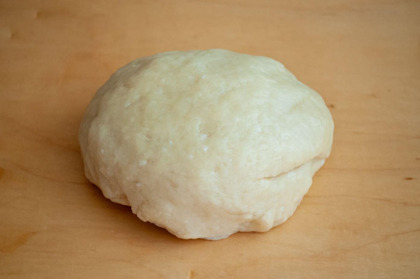 Hot water crust pie dough.