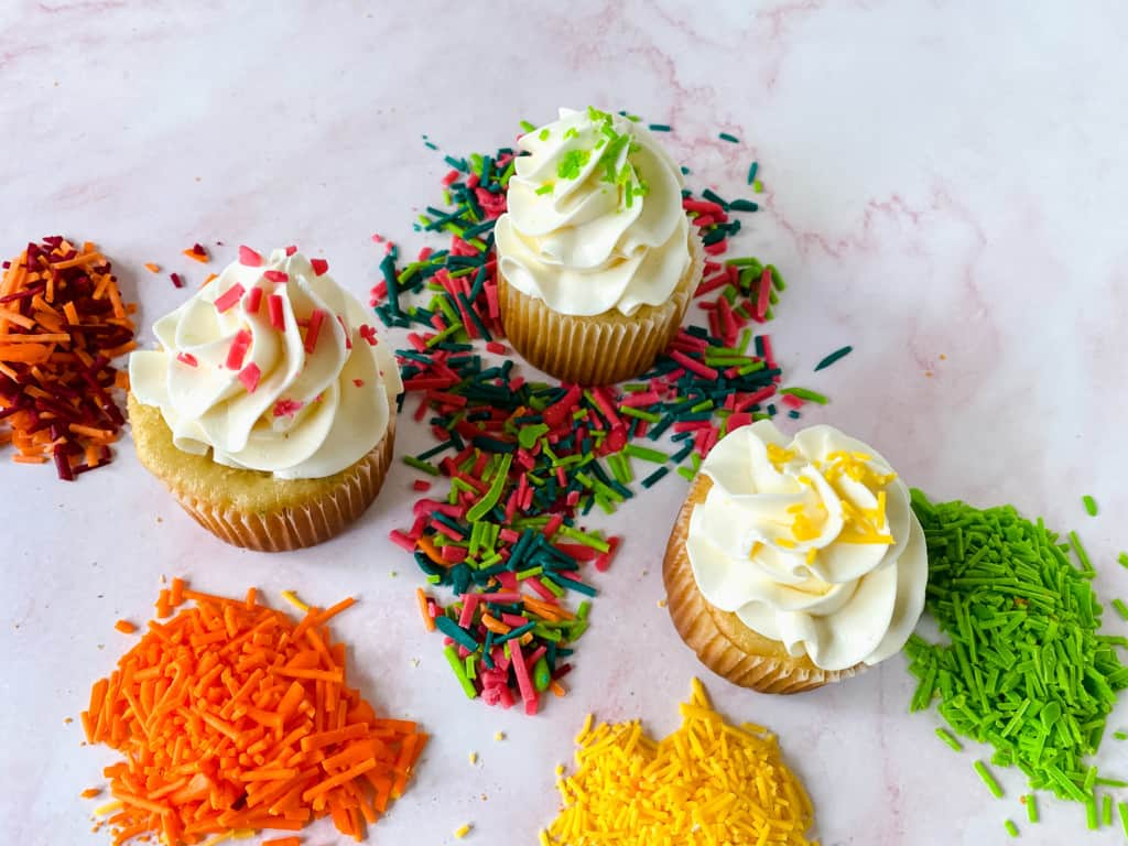Homemade Sprinkles and Cupcakes