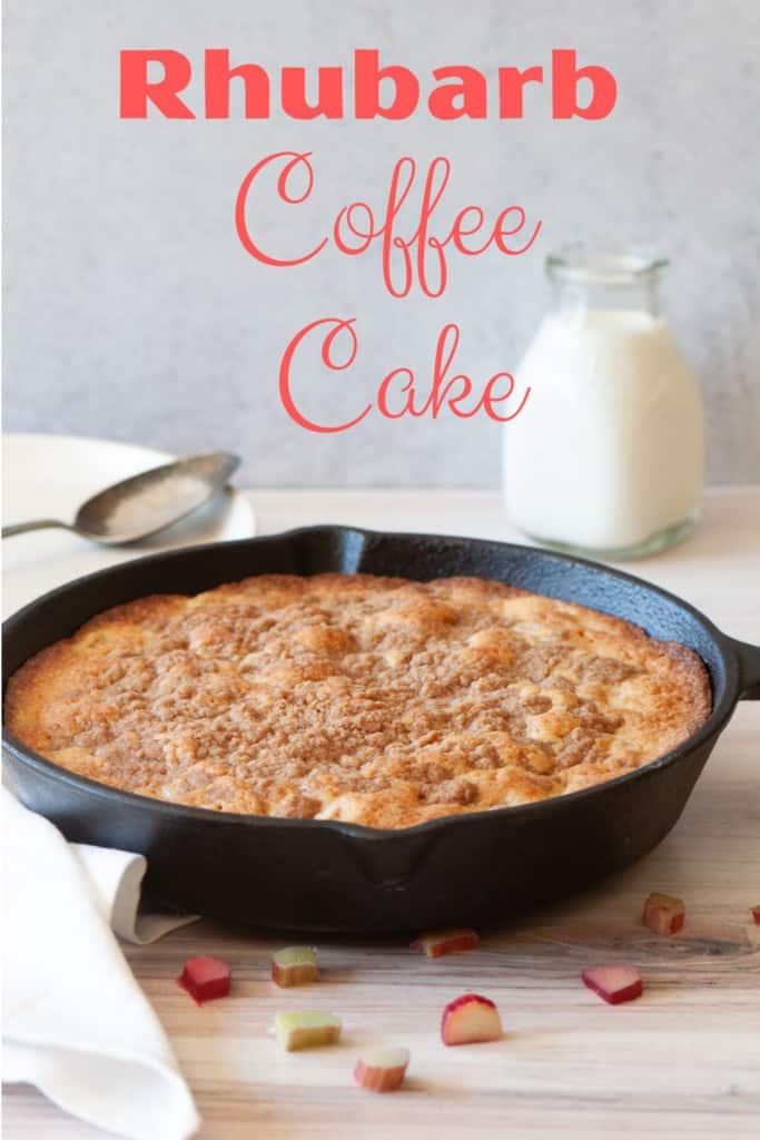 Pin for rhubarb coffee cake.