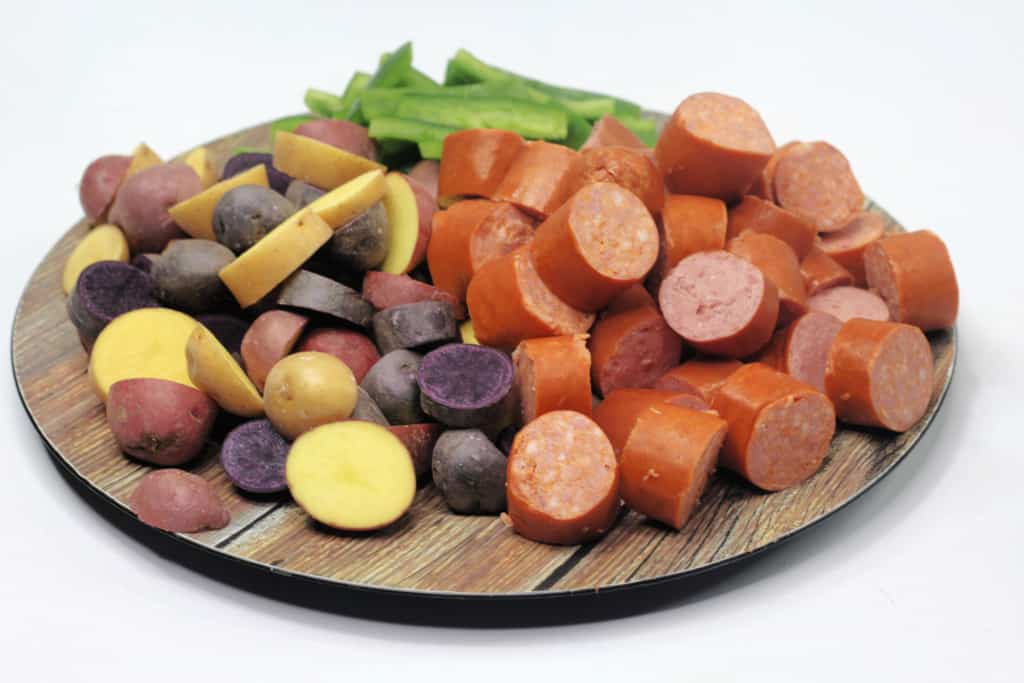 Ingredients for Sausage and Potatoes.