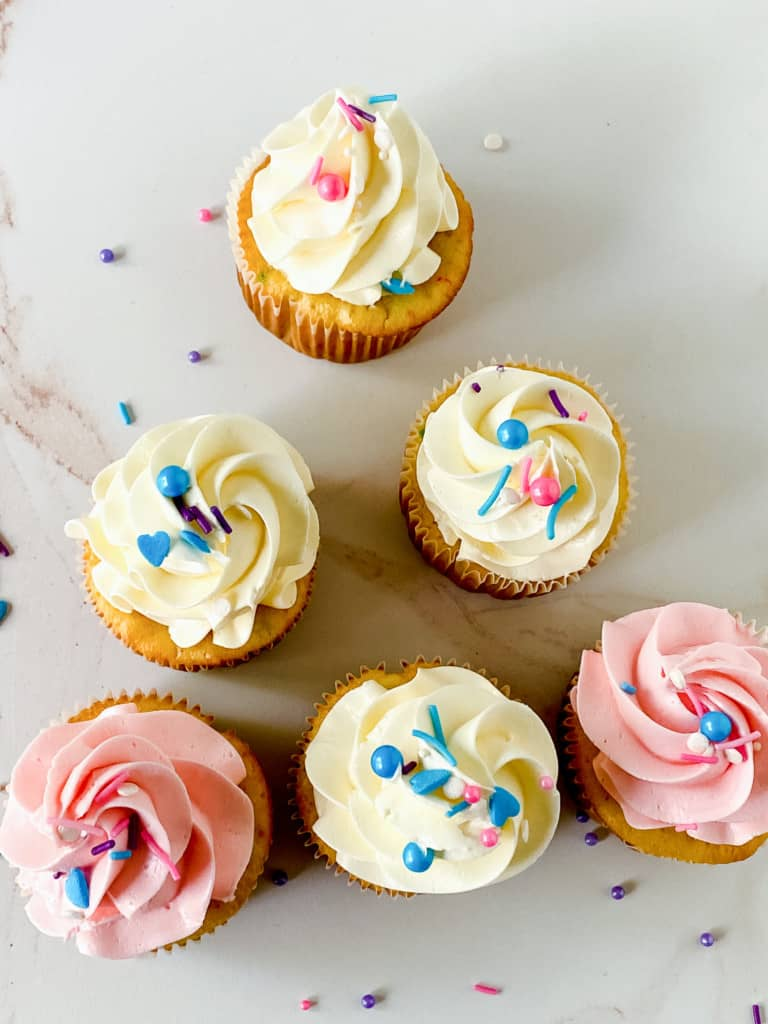 Cupcakes and sprinkles.