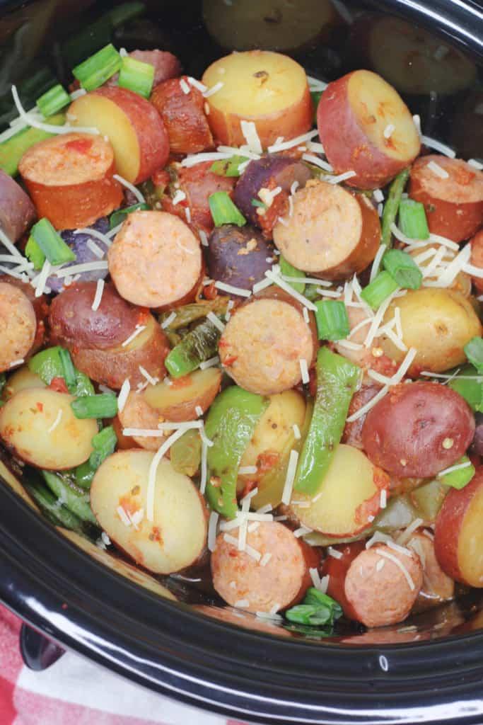 Easy crock pot dinner with simple ingredients.