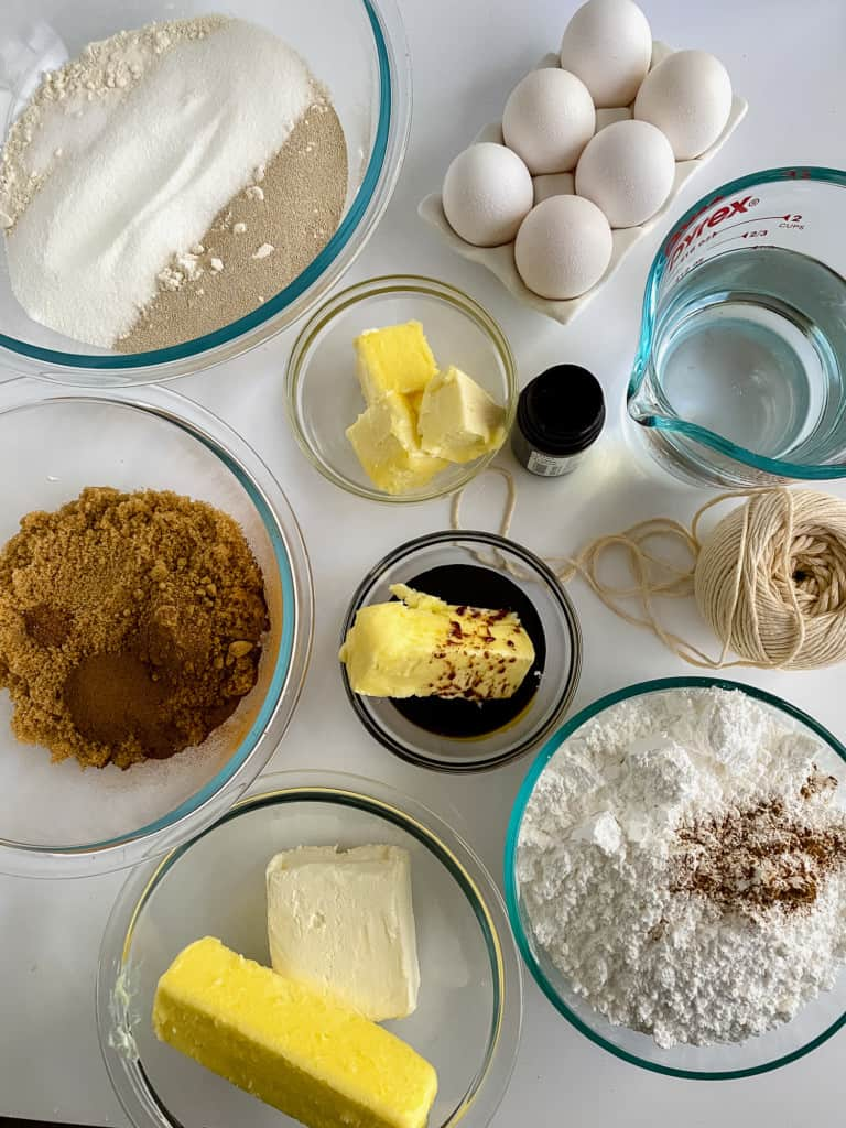 Ingredients for Gingerbread Rolls.