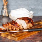 Sliced Air Fryer Turkey Breast.