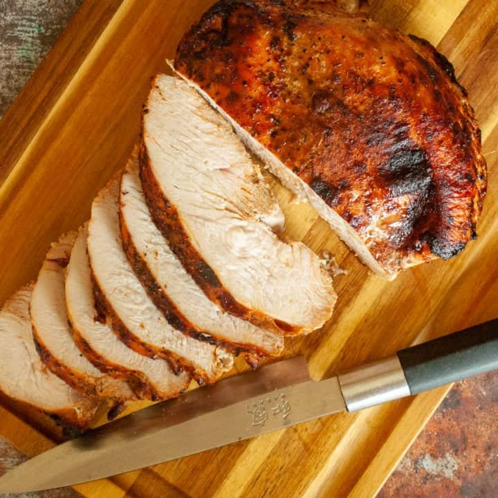 Sliced turkey breast.